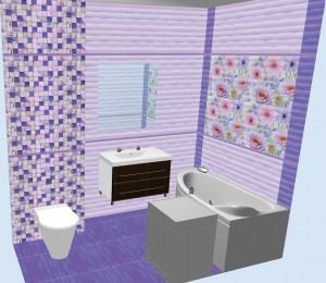 Плитка Aquarelle Gracia Ceramica в ванной 1
