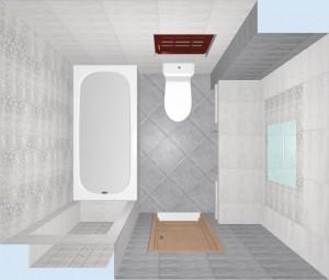 Ванная с плиткой Bastion серая. Фото 5