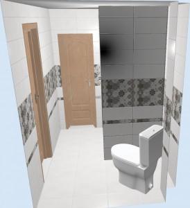 Вид ванной с алиткой Alrami
