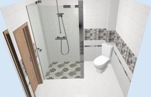 Интерьер ванной с плиткой Alrami