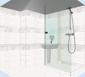 Плитка Шебби Шик в ванной фото 4