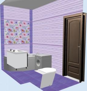 Плитка Aquarelle Gracia Ceramica в ванной 3