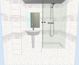 Плитка Шебби Шик в ванной фото 1