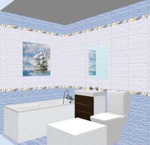 Плитка Бригантина в ванной фото 6