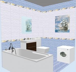 Плитка Бригантина в ванной фото 4