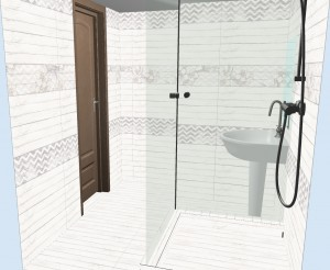 Плитка Шебби Шик в ванной фото 2