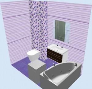 Плитка Aquarelle Gracia Ceramica в ванной 4