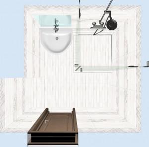 Плитка Шебби Шик в ванной фото 5