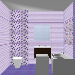Плитка Aquarelle Gracia Ceramica в ванной 6
