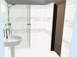 Плитка Шебби Шик в ванной фото 3