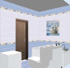 Плитка Бригантина в ванной фото 2