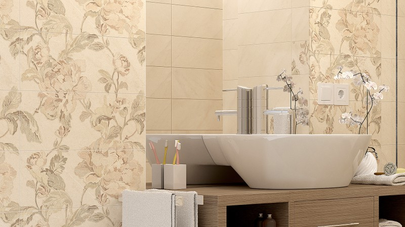 Плитка Piona golden tile в интерьере