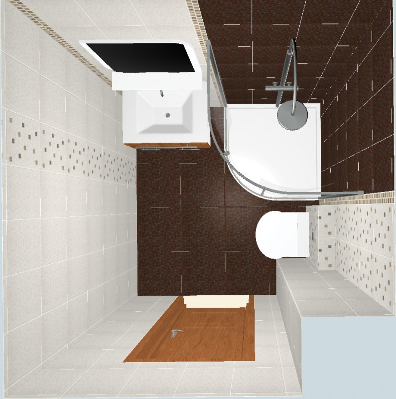 проект №3 ванной с плиткой Квадро березакерамика
