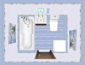 Плитка Бригантина в ванной фото 7