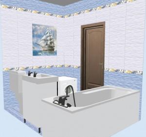 Плитка Бригантина в ванной фото 3