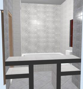 Ванная с плиткой Bastion серая. Фото 4