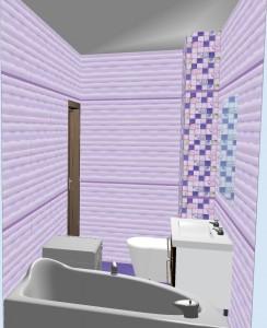 Плитка Aquarelle Gracia Ceramica в ванной 2